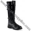 WALKER-130 Black Faux Leather
